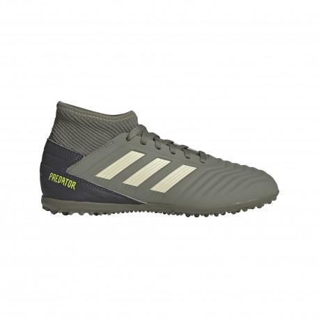 Adidas Scarpe Da Calcio Predator 19.3 Tf Verde Beige Bambino