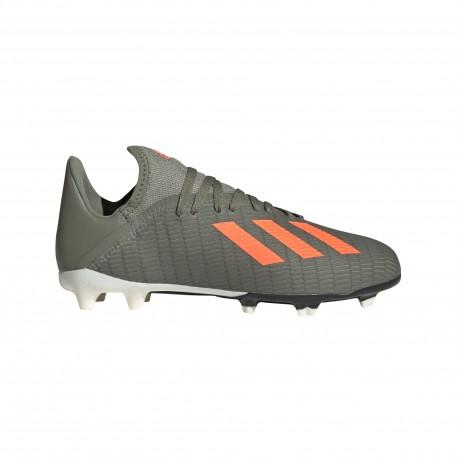 Adidas Scarpe Da Calcio X 19.3 Fg Verde Arancio Bambino