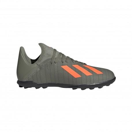 Adidas Scarpe Da Calcio X 19.3 Tf Verde Arancio Bambino