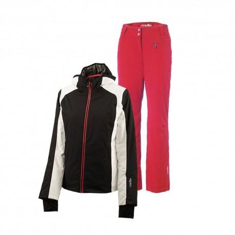 RH+ Completo Sci Belleayre Nero Bianco Rosso Donna