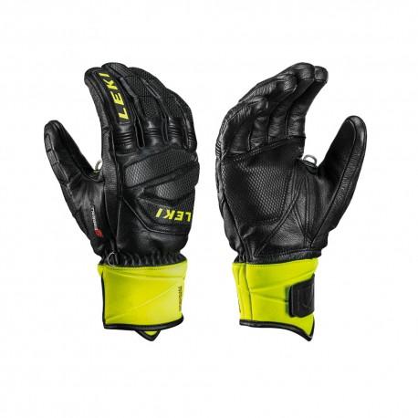 Leki Guanti Sci Worldcup Race Downhill S Nero Lime Uomo