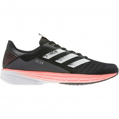 ADIDAS scarpe running sl20 core nero bianco uomo