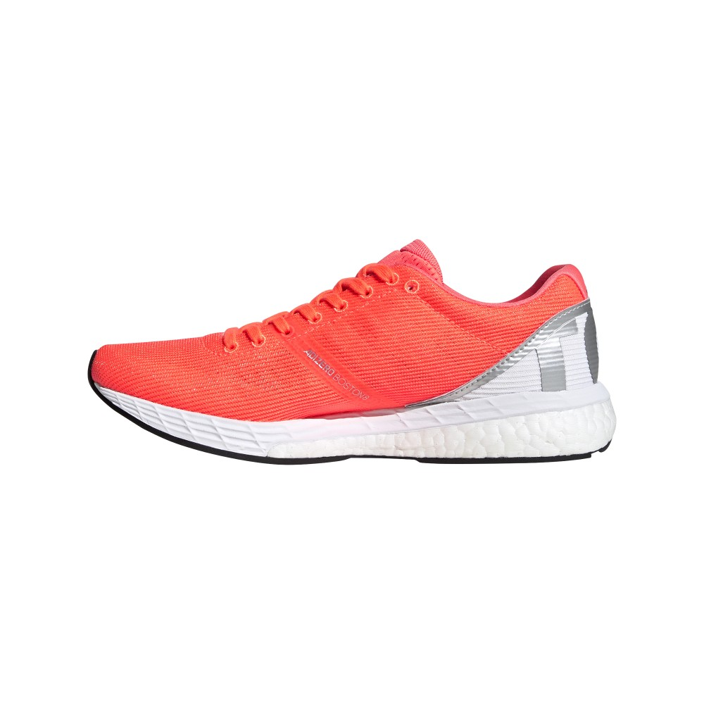 ADIDAS scarpe running boston 8 signal arancio argento donna