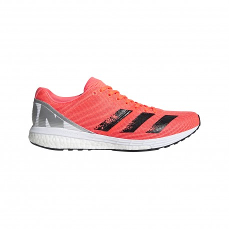 ADIDAS scarpe running boston 8 signal coral core nero uomo
