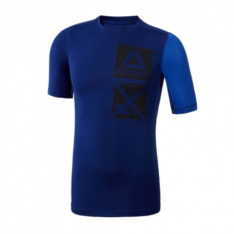 Reebok T-Shirt Unisex Compression Blu