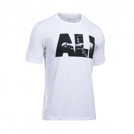 Under Armour T-Shirt Unisex Scritta Ali Bianco