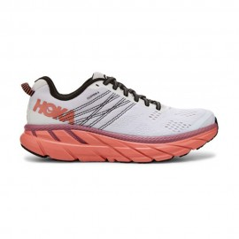 Hoka Scarpe Running Clifton 6 Nimbus Cloud Bianco Rosa Donna
