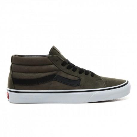 Vans Sneakers Sk8 Mid Verde Nero Uomo