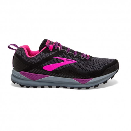 Brooks Scarpe Trail Running Cascadia 14 Nero Rosa Donna