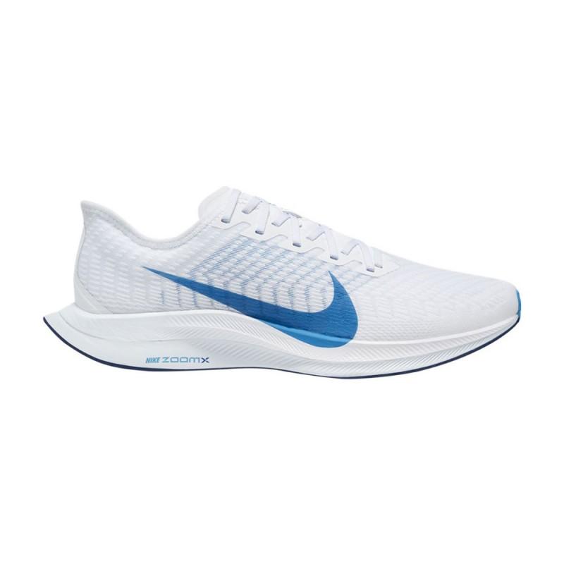Nike Scarpe Running Zoom Pegasus Turbo 2 Bianco Blu Uomo