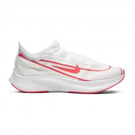 Nike Scarpe Running Zoom Fly 3 Bianco Rosso Donna