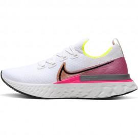 Nike Scarpe React Infinity Run Bianco Nero Rosa Donna