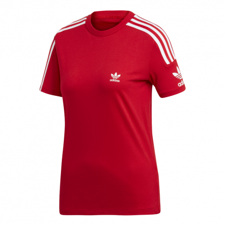 ADIDAS originals t-shirt triband rosso donna