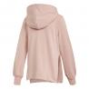 ADIDAS originals felpa con cappuccio trefoil rosa donna
