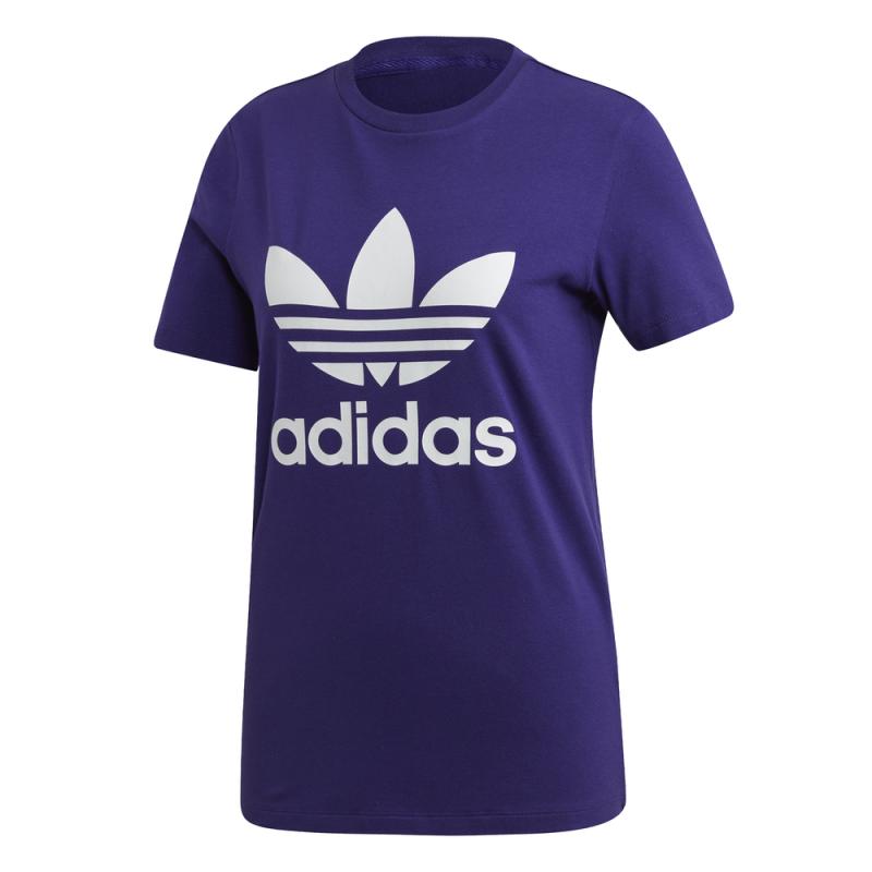 ADIDAS originals t shirt trefoil viola donna