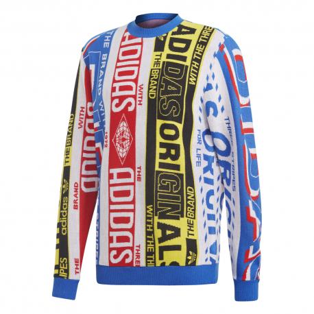 ADIDAS originals maglione logo multicolor uomo