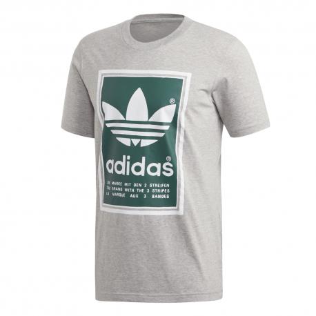 ADIDAS originals t-shirt logo grigio uomo