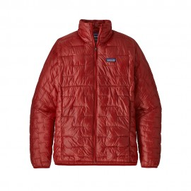 Patagonia Giacca Alpinismo Piuma Micro Puff Rosso Uomo