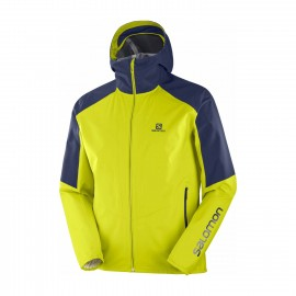 Salomon Giacca Alpinismo Outline Lime Blu Uomo