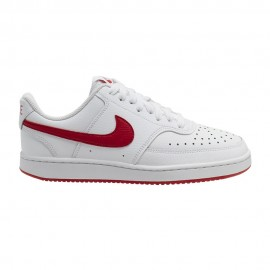 Nike Sneakers Court Vision Lo Bianco Rosso Donna