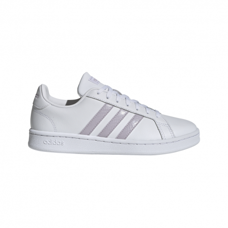 ADIDAS sneakers grand court bianco rosa donna
