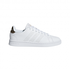 ADIDAS sneakers advantage bianco oro donna