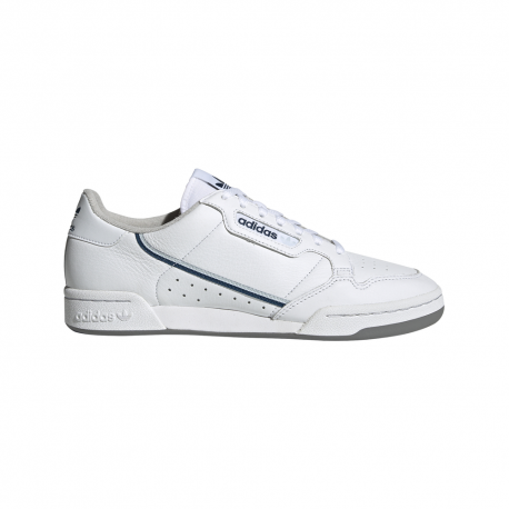 ADIDAS originals sneakers continental 80 bianco blu uomo