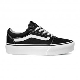 Vans Sneakers Ward Platform Canvas Nero Donna