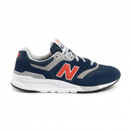New Balance Sneakers 997 Suede Mesh Blu Rosso Uomo