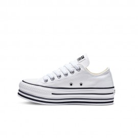 Converse Sneakers Chuck Taylor All Star Platform Layer Ox Bianco Donna