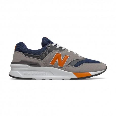 New Balance Sneakers 997 Suede Mesh Blu Arancio Uomo