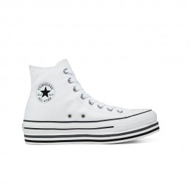 Converse Sneakers Chuck Taylor All Star Platform Layer Hi Bianco Donna