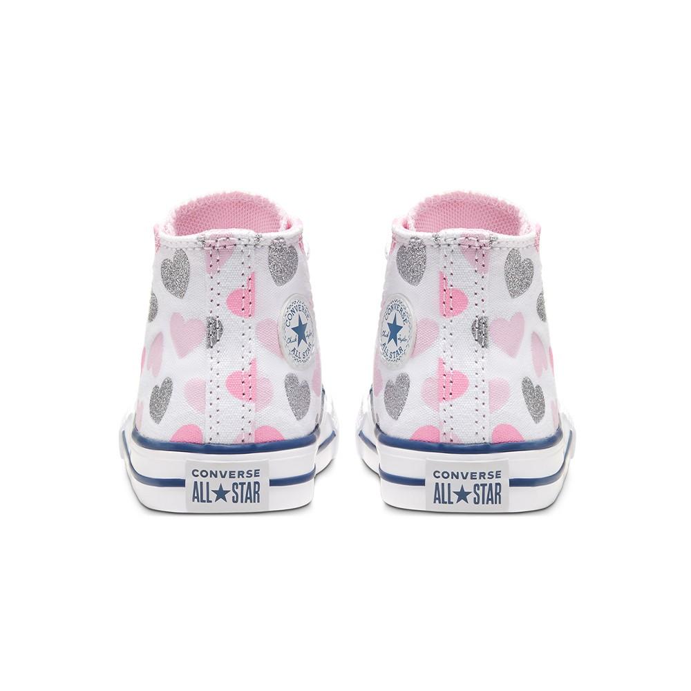 Converse Sneakers Chuck Taylor All Star Hi Bianco Rosa Bambino ...