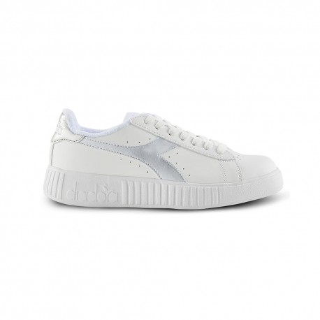 Diadora Sneakers Game P Step Bianco Argento Donna