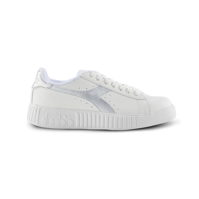 Diadora Sneakers Game P Step Bianco Argento Donna