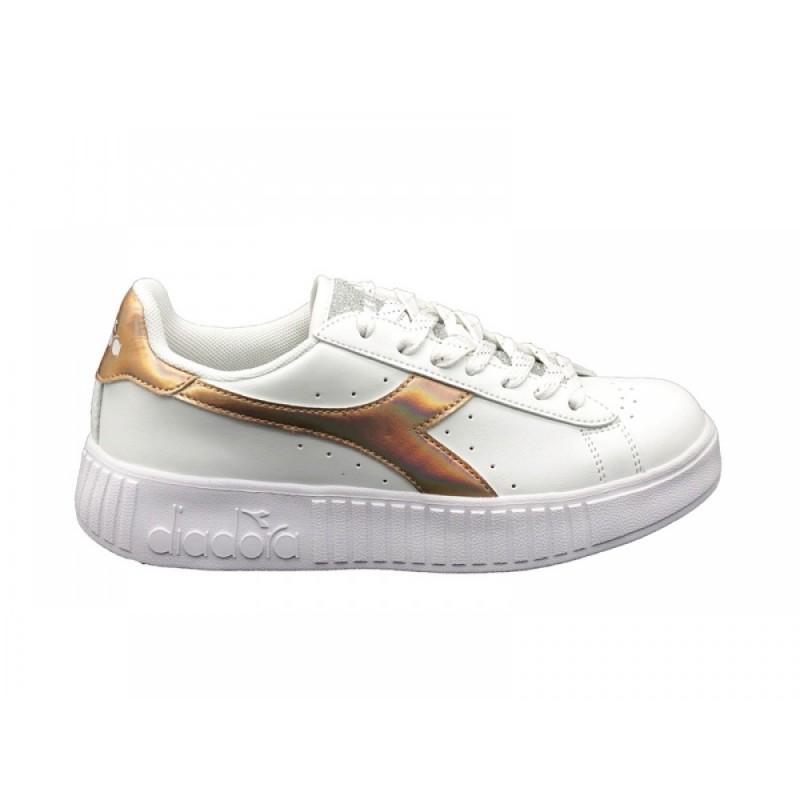 Diadora Sneakers Game Step Shiny Bianco Donna