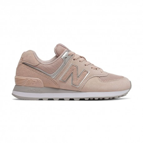 New Balance Sneakers 574 Suede Mash Rosa Donna