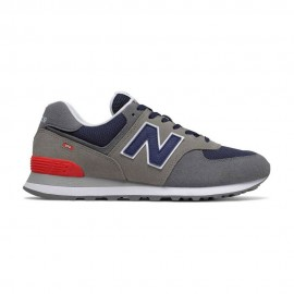 New Balance Sneakers 574 Suede Mash Grigio Blu Uomo