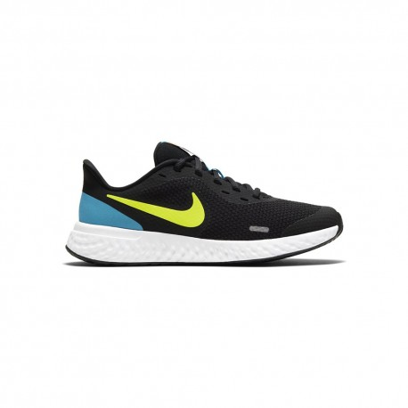 Nike Sneakers Revolution 5 Gs Nero Lime Bambino