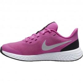 Nike Sneakers Revolution 5 Gs Rosa Grigio Bambino