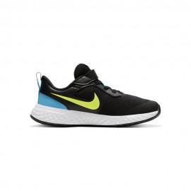 Nike Sneakers Revolution 5 Psv Nero Lime Bambino