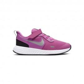 Nike Sneakers Revolution 5 Psv Rosa Argento Bambina