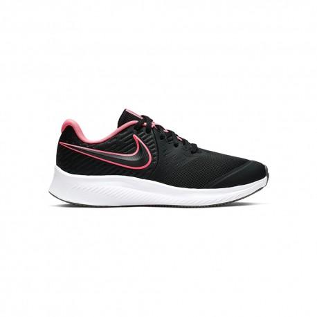 Nike Sneakers Star Runner 2 Gs Nero Rosa Bambino