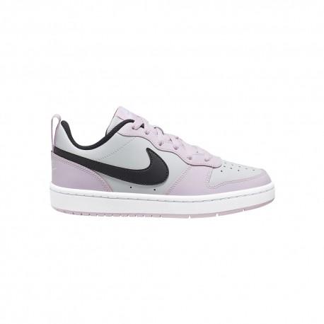 Nike Sneakers Court Borought Low Gs Rosa Nero Bambino