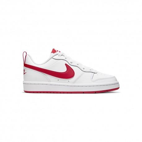 Nike Sneakers Court Borought Low Gs Bianco Rosso Bambino