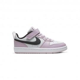 Nike Sneakers Court Borought Low Psv Rosa Nero Bambino