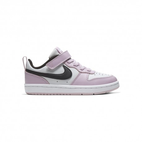 Nike Sneakers Court Borought Low Psv Rosa Nero Bambino