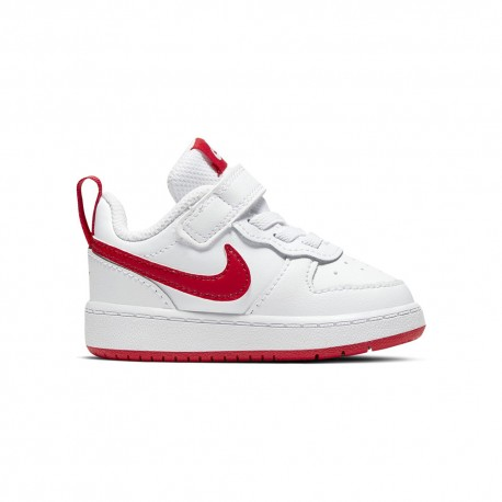 Nike Sneakers Court Borought Low Tdv Bianco Rosso Bambino