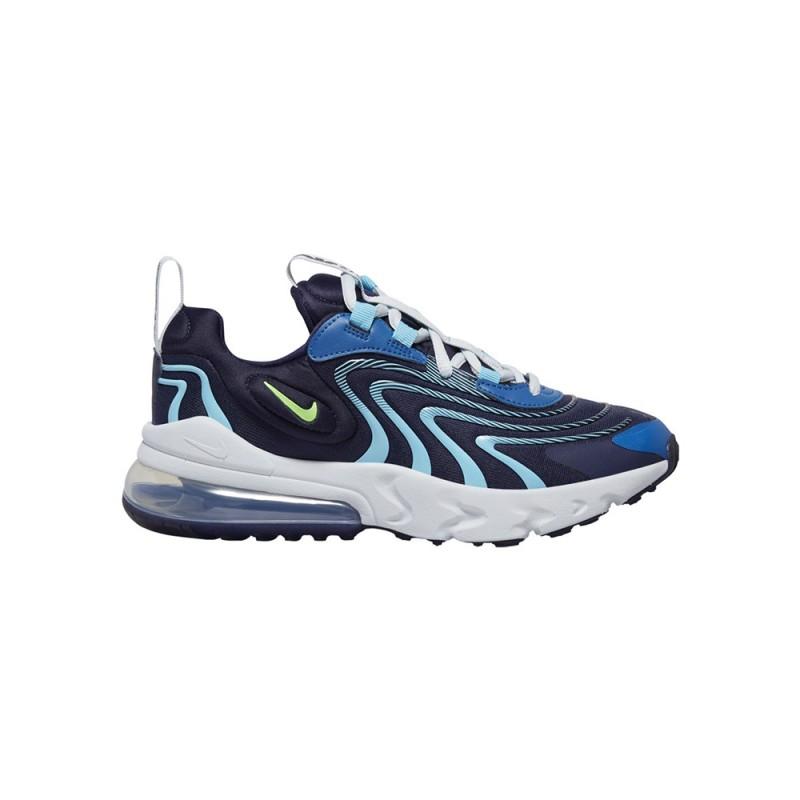 Nike Sneakers Air Max 270 React Eng Gs Blu Verde Bambino