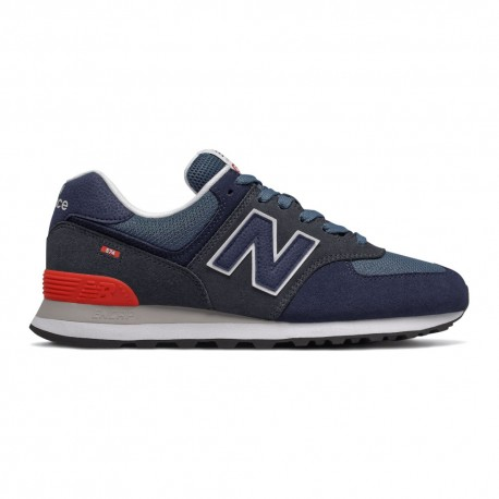 New Balance Sneakers 574 Suede Mash Blu Uomo